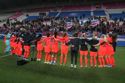 Les Parisiennes comptent sur un contingent régulier d'Ultras lors de leurs matchs (photo PSG.fr)