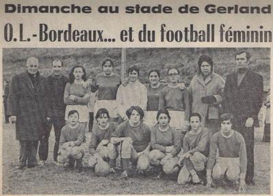 En Février 1970, Ste Foy lès Lyon foule la pelouse de Gerland