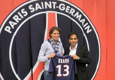 Annike Krahn avec Farid Benstiti (photo DR)