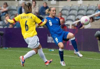 Sonia Bompastor et les Bleues n'ont pas été au mieux (photo Eric Baledent/LMP)