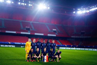 Les Bleues lors du match à Valenciennes (photo FFF)