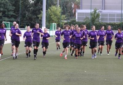 Les Toulousaines lors d'un entraînement (photo P Charbit)