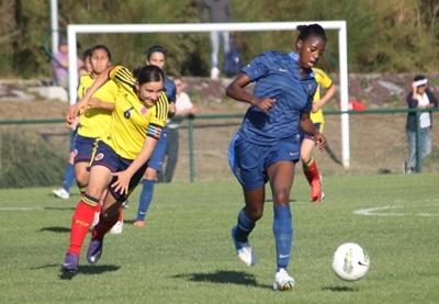 Aissatou Tounkara évoluait en défense centrale (photo S Duret)