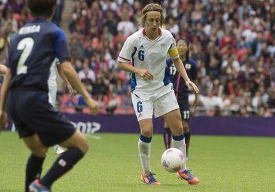 L'élimination en demi-finale contre le Japon reste encore en travers de la gorge de Sandrine Soubeyrand (Photos : Eric Baledent)