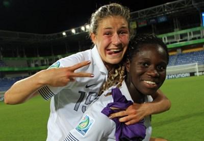 Noémie Carage et Griedge Mbock Bathy Nka, deux joueuses qui font partie d'un groupe qui ne cesse de progresser