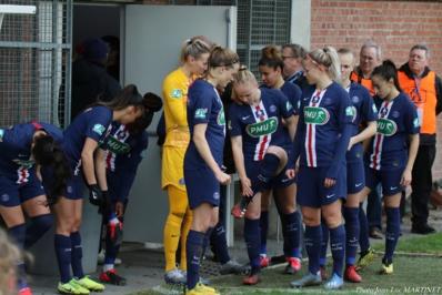 Les Parisiennes avant leur match à Arras (photo Jean-Luc Martinet)
