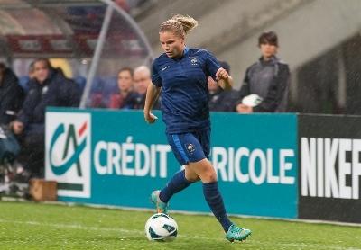 Eugénie Le Sommer avait marqué contre les Pays-Bas en février dernier (photo W Morice/LMP)
