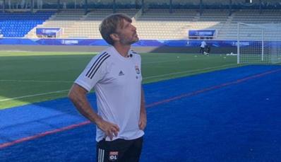 Jean-Luc Vasseur au stade de l'Abbé-Deschamps (twitter OL)