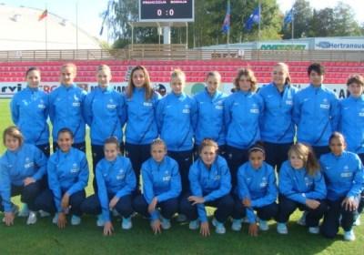 La sélection lors du premier tour de l'Euro (photo FFF)