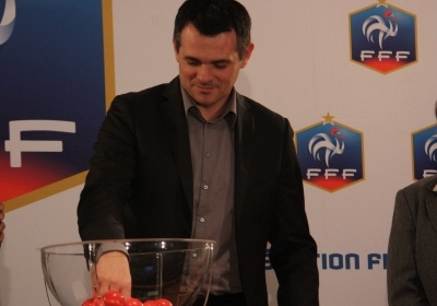 Willy Sagnol lors du tirage (photo Sébastien Duret)