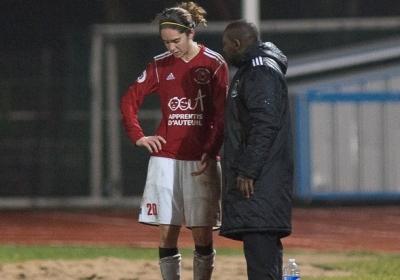 Céline Chatelain aux côtés de David Remisse, lors de son dernier match sur le banc isséen (photo Eric Baledent/LMP)
