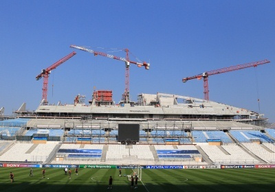 Le Vélodrome est en travaux jusqu'en 2014 accueille tous les matchs de l'OM mais pas les BleuEs