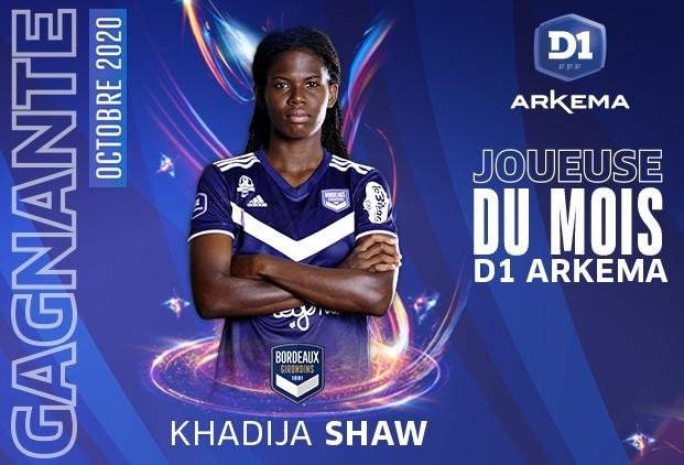 #D1Arkema - Khadija SHAW élue joueuse du mois