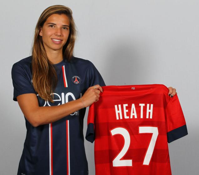 Tobin Heath portera le numéro 27 (photo C Gavelle/PSG.fr)