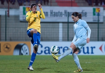 Louisa Necib n'a pas tremblé au moment de tirer le penalty à la 96e minute(photo : asnl.net)