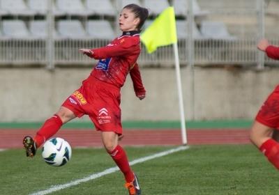 La jeune aveyronnaise a joué 4 matchs en sélection U19 cette saison (photo E Baledent)