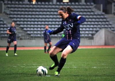 Sabrina Delannoy a inscrit le dernier but (photo A Massardi/les-feminines.fr)