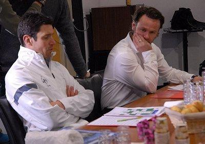 Franck Raviot et Steeve Savidan ont longuement délibéré avant de rendre leur verdict...