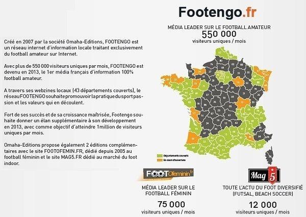FOOTENGO - Trois de plus qui font quarante-trois départements...