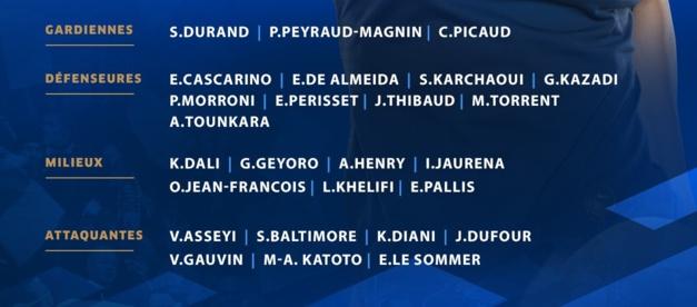 Bleues - La liste annoncée avec les Lyonnaises actuellement à l'isolement