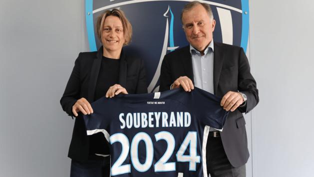 Sandrine Soubeyrand avec le Président Pierre Ferracci (photo PFC)