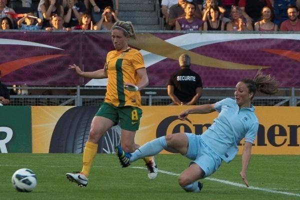 Gaëtane Thiney est sereine malgré la défaite contre l'Australie (photo Eric Baledent/LMP)