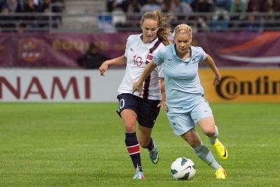 Avec le maillot bleu, Eugénie Le Sommer a déjà inscrit 26 buts