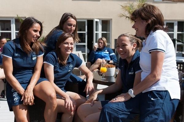 Liane Foly a apporté sa touche personnelle à la vie des Bleues (photo Eric Baledent/LMP)