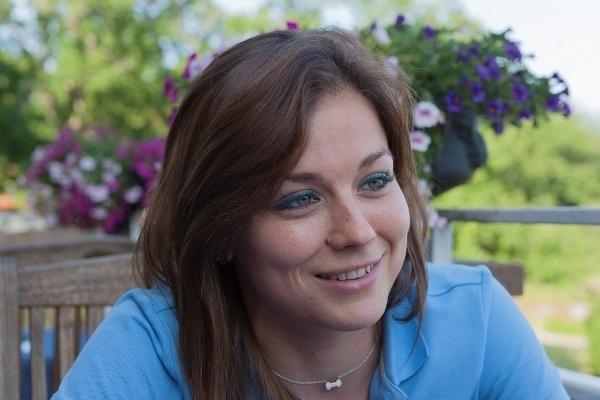 Laure Boulleau, toujours souriante (photo Eric Baledent)