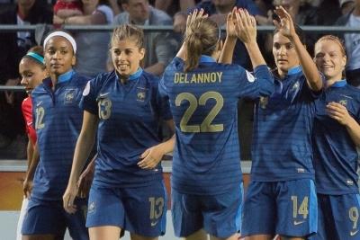 Camille Catala a déjà inscrit deux buts avec les Bleues. C'était face à la Roumanie et aux Jeux contre la Corée du Nord