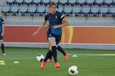 Camille Catala à l'entraînement ce dimanche