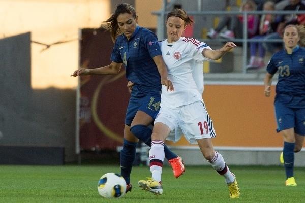 Louisa Necib a égalisé sur penalty à la 71e minute (Photo : Eric Baledent)