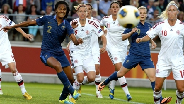 Wendie Renard a été la seule française à écoper d'un carton jaune (Photos : UEFA.com)