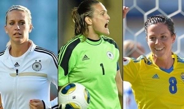 Lena Goessling, Nadine Angerer ou Lotta Schelin, qui remportera la récompense remise par l'UEFA ?