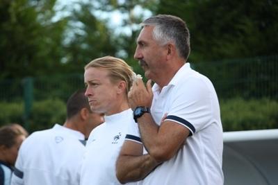 Le sélectionneur Gilles Eyquem et son adjointe Sandrine Ringler ont pu affiner leurs choix (photo S Duret)