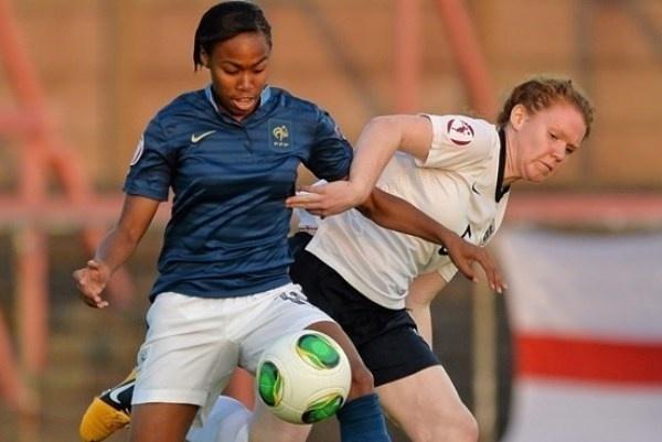 Entrée à la pause, Lindsey Thomas n'a pas pu faire sauter le verrou anglais (photo uefa.com)