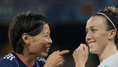 Kumagai et Bronze, deux anciennes Lyonnaises (photo FIFA.com)