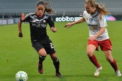 Amel Majri en Ligue des Champions (source OL)