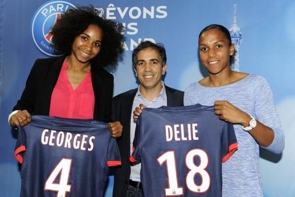 Retour sur Paris pour Laura Georges et Marie-Laure Delie (photo PSG)