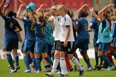 La joie française et la détresse de Bremer (photos UEFA)