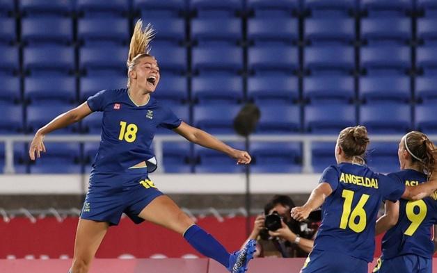 Fridolina Rolfö a inscrit le seul but de la rencontre (photo twitter FIFA)