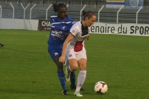 Face à l'audace de Soyaux, la défense du PSG a été mise à mal (photo C Ringaud)