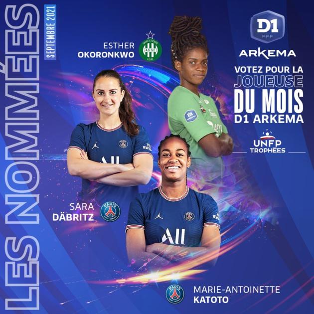 #D1Arkema - Joueuses du mois de septembre : les trois nommées