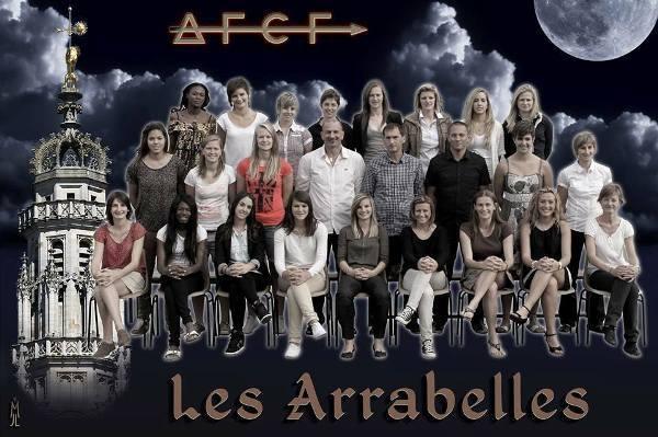 Les Arrageoises ont tenu la pose et sont devenues pour l'occasion les Arrabelles (photo JLuc Martinet)