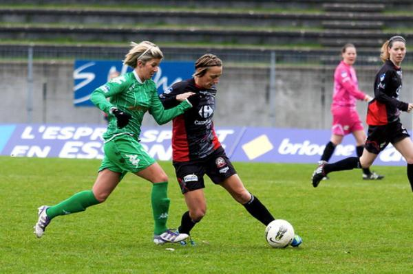 Au duel avec Sandrine Soubeyrand (photo club)