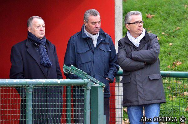 Trois jours après l'élimination contre Potsdam, Jean-Michel Aulas était à la plaine des Jeux (photo Alex Ortega)