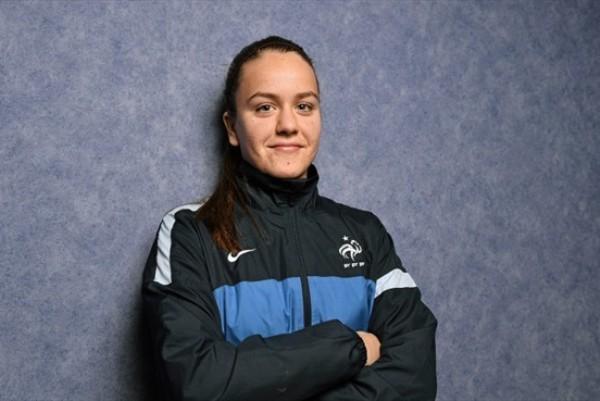 Julie Marichaud a inscrit le but français (photo UEFA)