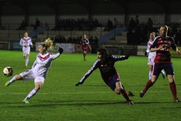 Eugénie Le Sommer et l'OL ont frappé (photo JLuc Martinet)