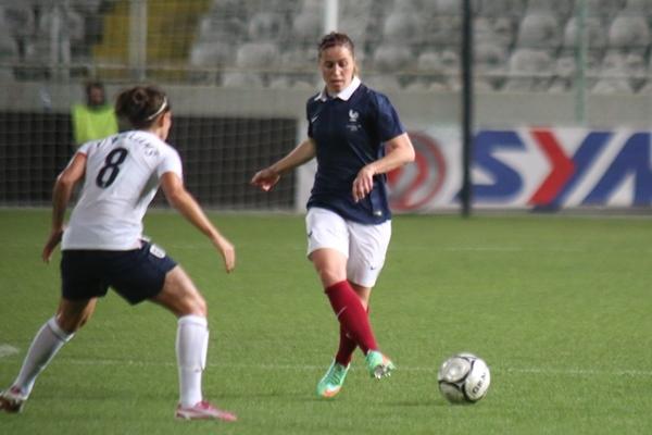 Camille Abily a joué le tournoi en milieu défensif (photo Sébastien Duret)
