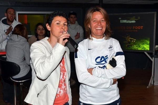 Mylène Chauvot (organisatrice) et Sandrine Roux (marraine de l'édition 2014)